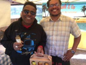 Tito Jackson and Frank at tettenhall make and Bake